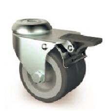 Колесо сдвоенное, с тормозом (нагрузка до 100 кг)