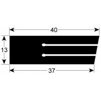 Уплотнение двери нижнее (046569.05) для Ротационная печь (хлебопекарный шкаф) Miwe shop-in
