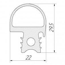Уплотнение двери (100000008075) ПКА 10-11ПМ.2138.57.30.000СБ для Пароконвектомата ПКА10-1/1ПМ-01 Abat