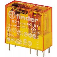Реле (40.61.8.230.0000) с 1-м перекидным контактом ~230В AC, 16А Finder