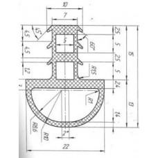 Уплотнение (AF220005032) двери для Печи Pavailler Cristal FM2 (АНАЛОГ) ß цена за 1 метр