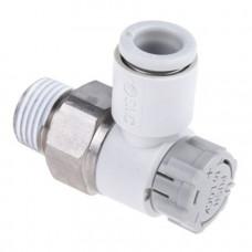 """Дроссель (AS2201F-01-06SA) с обратным клапаном, R1/8"""" SMC для Vidnar"""