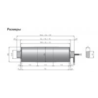 Мотор-барабан (BD80C) 0.085кВт, 0.16м/с, 1*230В 50/60 Гц, SL=508мм INTERROLL для Кассового стола