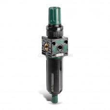 """Регулятор (FR M14 20 08 R PE SS) давления+фильтр, G1/4"""", 0..8 bar, 720 л/мин, с защ. Колбой"""