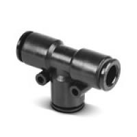 Фитинг тройник (MB150808) Т-образный,8 мм х 8 мм х 8 мм, T=(-20…+70)C, P=(-0,99…18) бар, корпус - пластик.