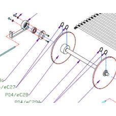 Вал (P04/eC15A, P04/eC29A) звезды цепного транспортера - ось конвейера для Упаковочной машины 3000/2 Vidnar