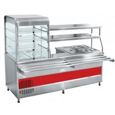 Прилавок-витрина холодильный мармитный универсальный ПВХМ-70КМУ Abat