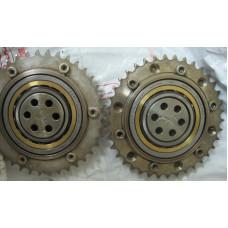 Подшипник 4-х опорный, в комплекте с приводной звездочкой (колесом цепи) 1/2'x5/16' Z=38 для Электрической ротационной печи ROTOTHERM REC 1020, REC 1280 Werner Pfleiderer (W&P)