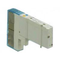 Пневмораспределитель (SY3A00-5UF1) 2x3/2-пневмораспределитель (н.з.-н.з.), 24VDC SMC