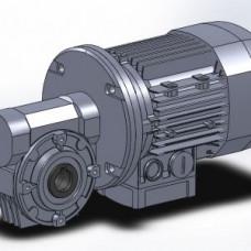 Мотор-редуктор (VFR150 FС1 i=192 P100 B5 B6) Bonfiglioli