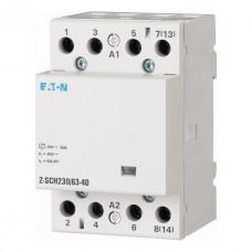 Контактор модульный (Z-SCH230/63-40) 230В, 63А, 4НО EATON